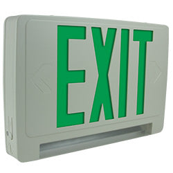 Slim profile exit sign with light bar egress emergeny lights compact design