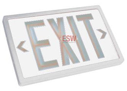Tritium Self Luminous Exit Sign White Face White Housing