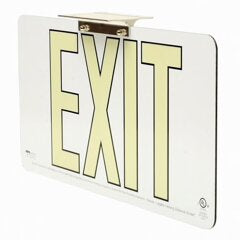 White Wireless Exit Signs and Non Electric