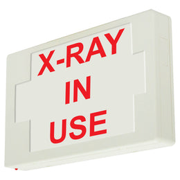 x ray in use led illuminated sign red letters with 90 minute battery