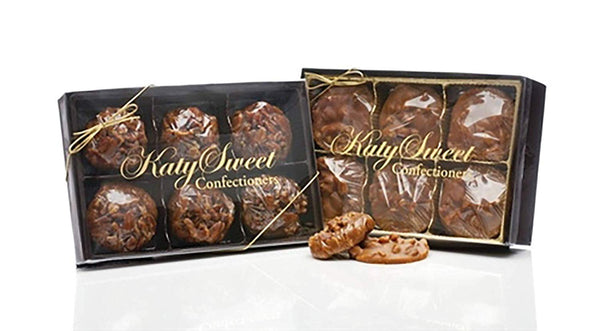 Texas Chewy Pralines, No Sugar Added, Gift Boxed 6 Pieces