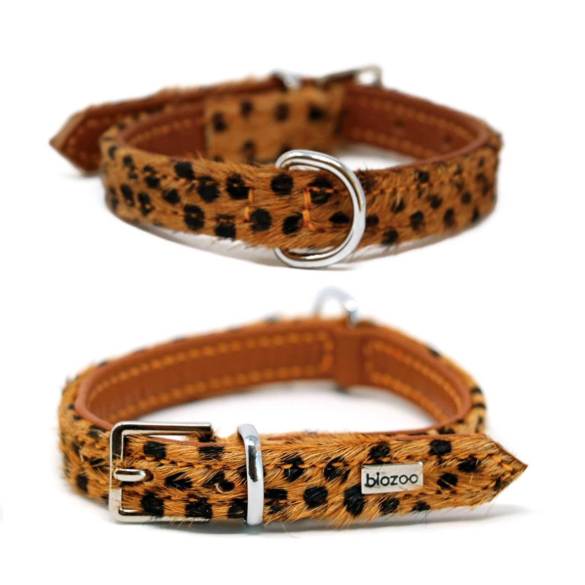 Animal Print Leather Collar-Collar-Biozoo-25 x 1,5-Papua-Biozoopets