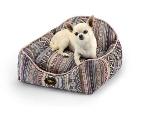 Boho Squared Bed-Bed-Biozoo-Pink-S-Biozoopets