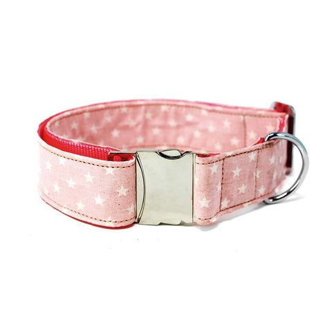 Contemporary marble pink collar