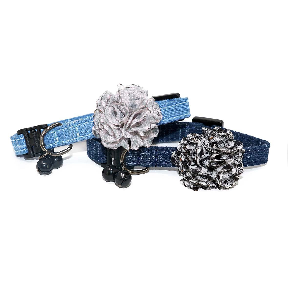 Dark Blue Elegant Cat Collar-Collars-Biozoo-Light Blue-Biozoopets