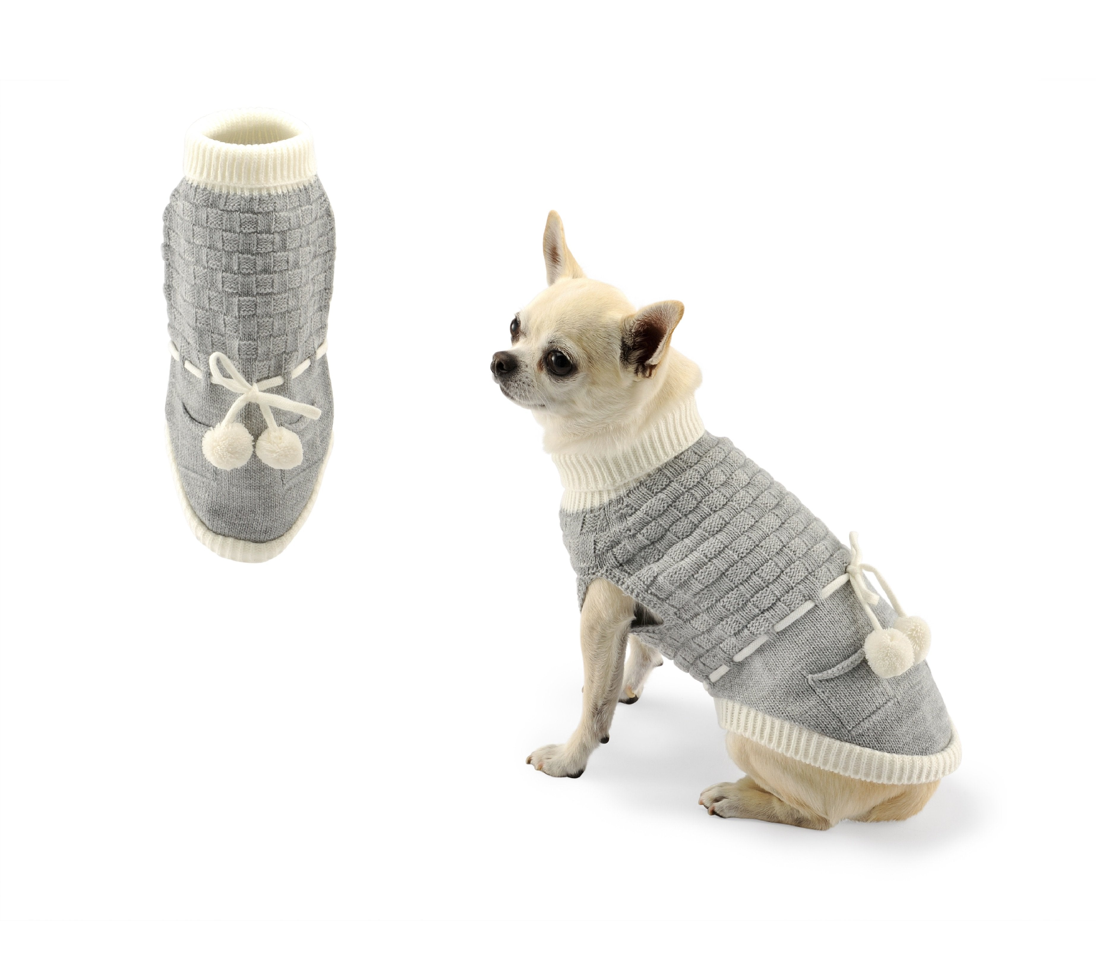Jumper two tassels-Sweaters-Biozoo-Grey-20-Biozoopets