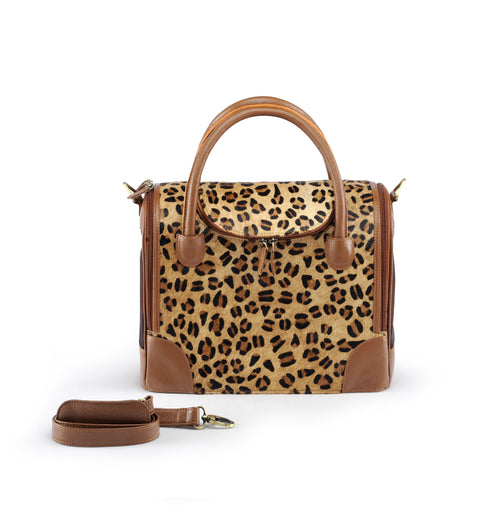 Juno Leather Animal Print Bag-Handbag-Biozoo-Biozoopets