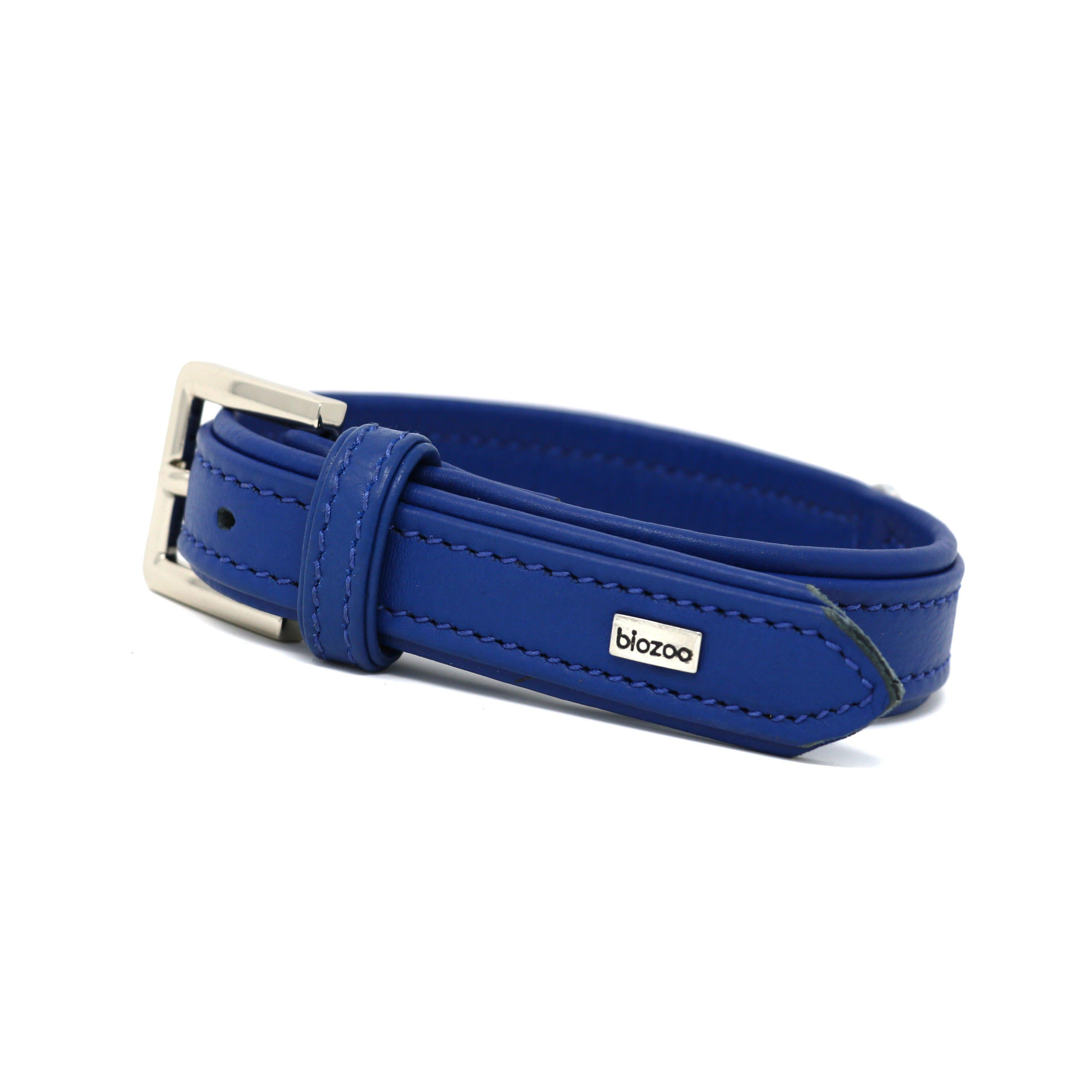 Provence Leather Collar-Collar-Biozoo-Blue-35 x 1,5 cm-Biozoopets