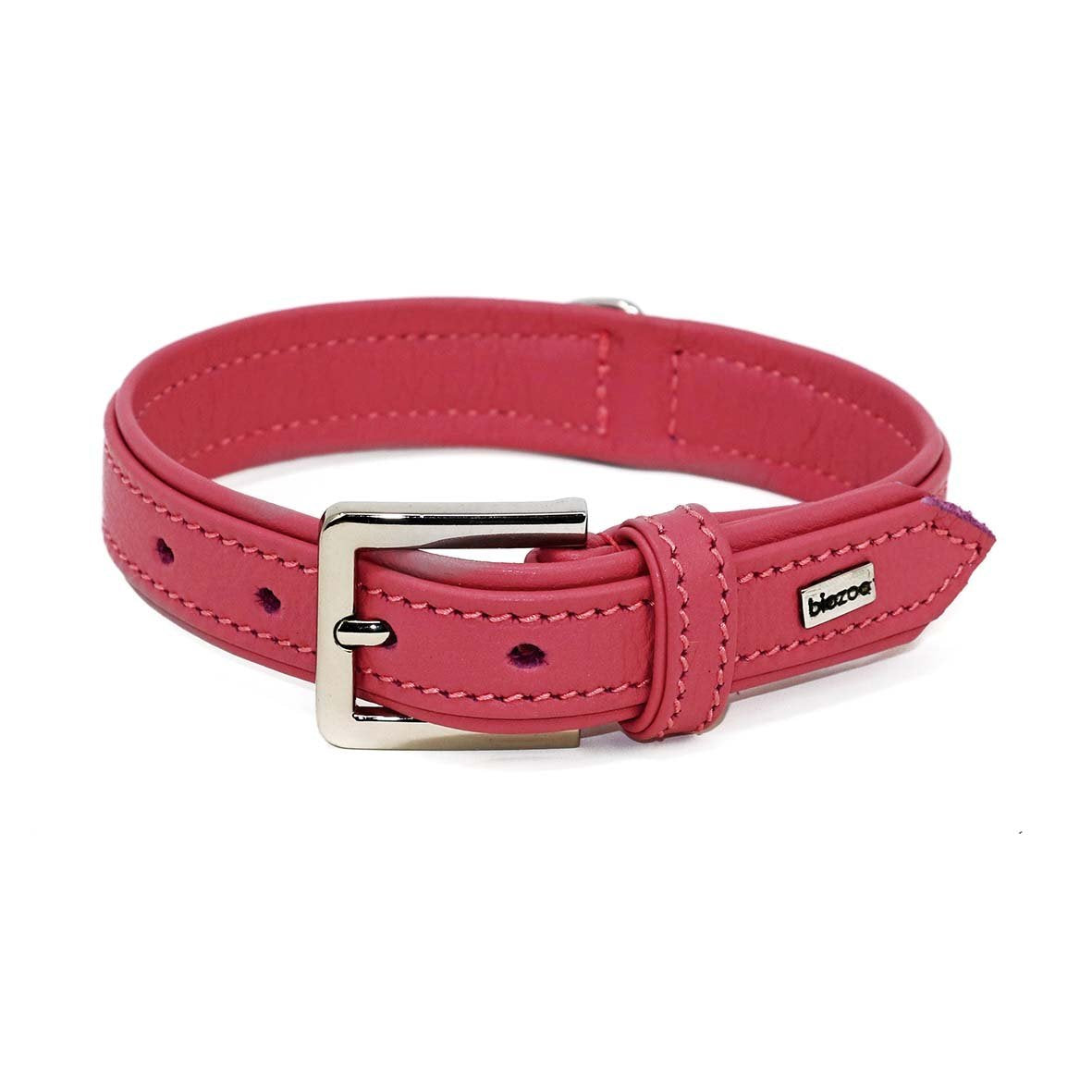Provence Leather Collar-Collar-Biozoo-Pink-35 x 1,5 cm-Biozoopets