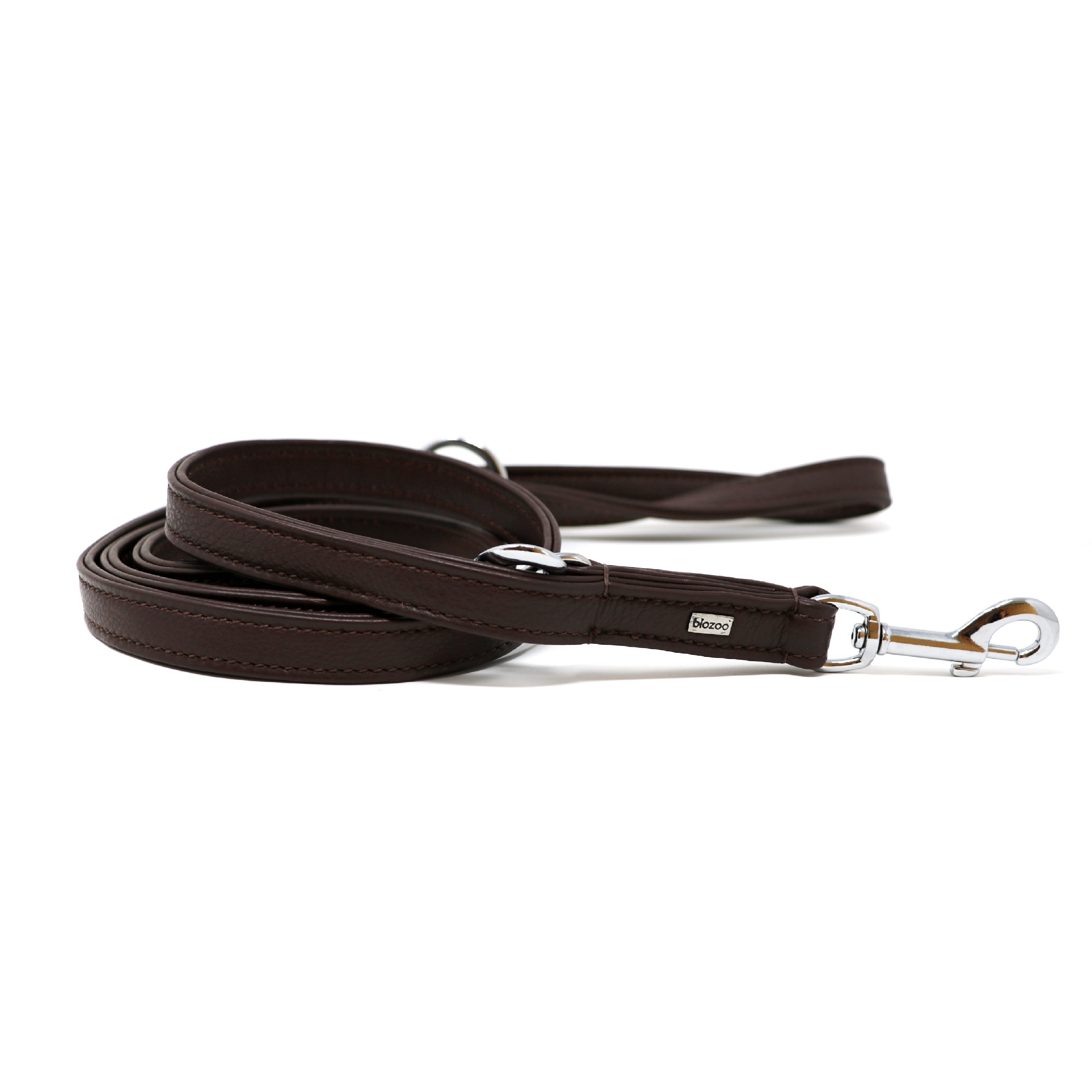Provence Leather Lead (3 Positions)-Leash-Biozoo-Brown-Biozoopets