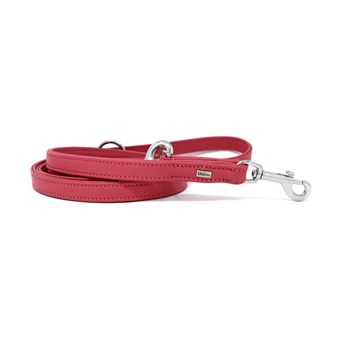 Provence Leather Lead (3 Positions)-Leash-Biozoo-Pink-Biozoopets
