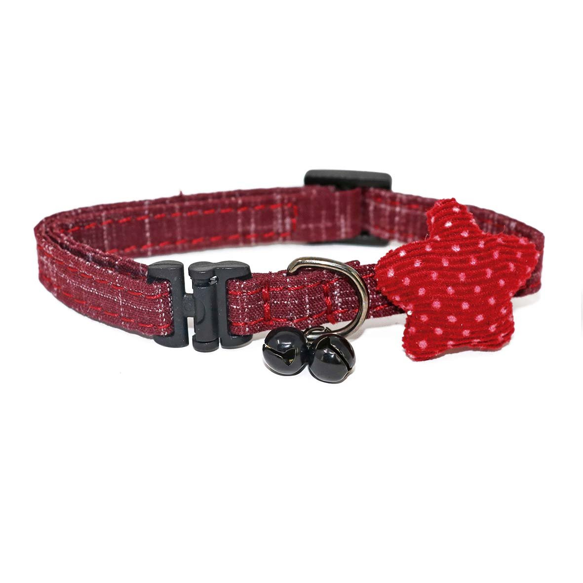 Red Unique Cat Collar-Collars-Biozoo-Red-Biozoopets