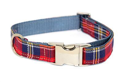 Scottish squares red collar-Prints-Biozoo-1,5 cm x 30-37 cm-Biozoopets
