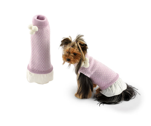 Skirt with three tassels-Sweaters-Biozoo-Pink-20-Biozoopets
