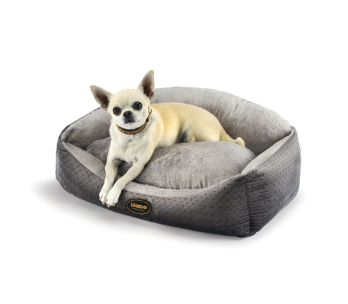 Velvet Bed-Bed-Biozoo-Grey-Size - 1-Biozoopets