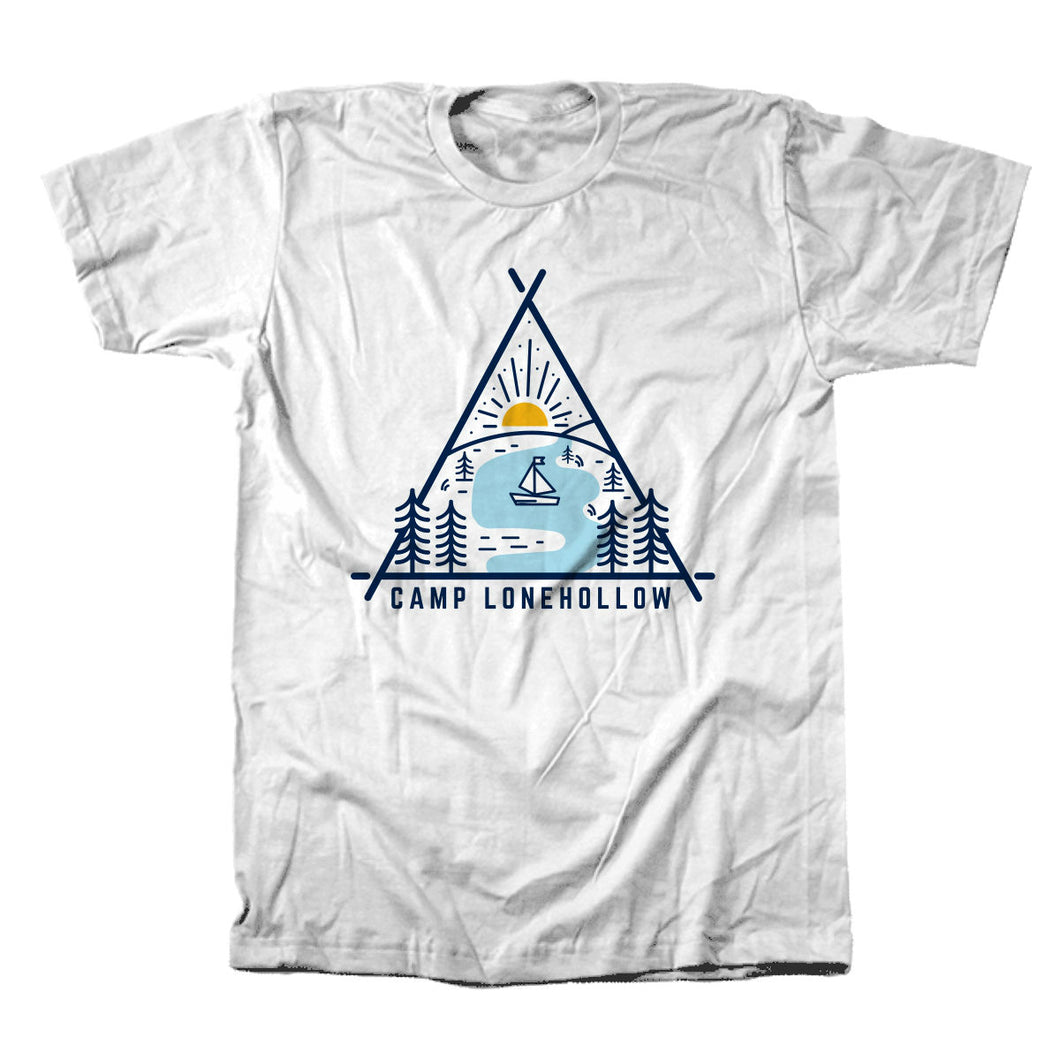 Triangle Lake Tshirt - White