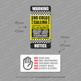 No Junk Mail - No Cold Callers Stickers - Twin Pack - Sticker - OBSESSO - www.obsesso.co.uk