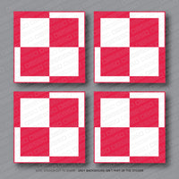 4 x Polish Poland Air Force Roundel Stickers - Sticker - OBSESSO - www.obsesso.co.uk