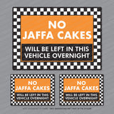 3 x No Jaffa Cakes Left In This Vehicle Overnight Stickers - Sticker - OBSESSO - www.obsesso.co.uk