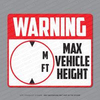 HGV/LGV Height Indicator Stickers - Stickers - OBSESSO - www.obsesso.co.uk