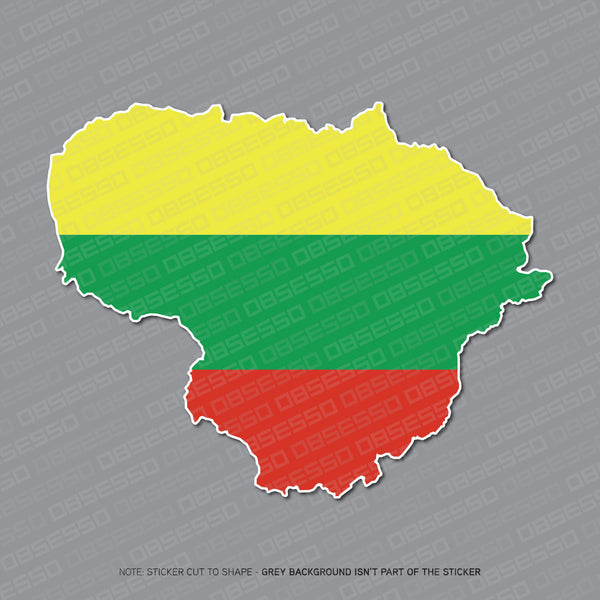 Lithuanian - Lithuania Map Sticker - Sticker - OBSESSO - www.obsesso.co.uk