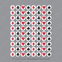 80 x Playing Card Suit Stickers - Sticker - OBSESSO - www.obsesso.co.uk
