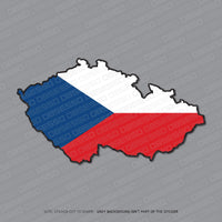Czech Map Flag Sticker - Sticker - OBSESSO - www.obsesso.co.uk