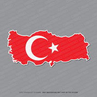 Turkey - Turkish Map Flag Sticker - Sticker - OBSESSO - www.obsesso.co.uk