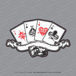 Aces Playing Card Sticker - Sticker - OBSESSO - www.obsesso.co.uk