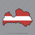 Latvia - Latvian Map Flag Sticker - Sticker - OBSESSO - www.obsesso.co.uk