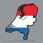 Netherlands Map Flag Sticker - Sticker - OBSESSO - www.obsesso.co.uk