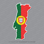 Portugal - Portuguese Map Flag Sticker - Sticker - OBSESSO - www.obsesso.co.uk