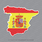 Spain - Spanish Map Flag Sticker - Sticker - OBSESSO - www.obsesso.co.uk