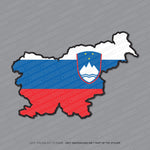 Slovenia - Slovenian Map Flag Sticker - Sticker - OBSESSO - www.obsesso.co.uk