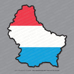 Luxembourg Map Flag Sticker - Sticker - OBSESSO - www.obsesso.co.uk