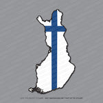 Finland - Finnish Map Flag Sticker - Sticker - OBSESSO - www.obsesso.co.uk
