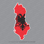 Albania - Albanian Map Flag Sticker - Sticker - OBSESSO - www.obsesso.co.uk