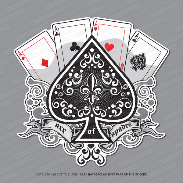 Ace Of Spades Playing Card Sticker - Sticker - OBSESSO - www.obsesso.co.uk