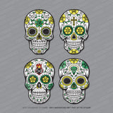 4 x Sugar Skull - Day Of The Dead Stickers - Sticker - OBSESSO - www.obsesso.co.uk