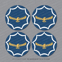 4 x South African Air Force Roundel Stickers - Sticker - OBSESSO - www.obsesso.co.uk