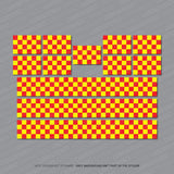 Ambulance - Fire - Police Chequered Stickers - Stickers - OBSESSO - www.obsesso.co.uk