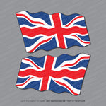 2x Union Jack Wavy Flag Stickers - Stickers - OBSESSO - www.obsesso.co.uk