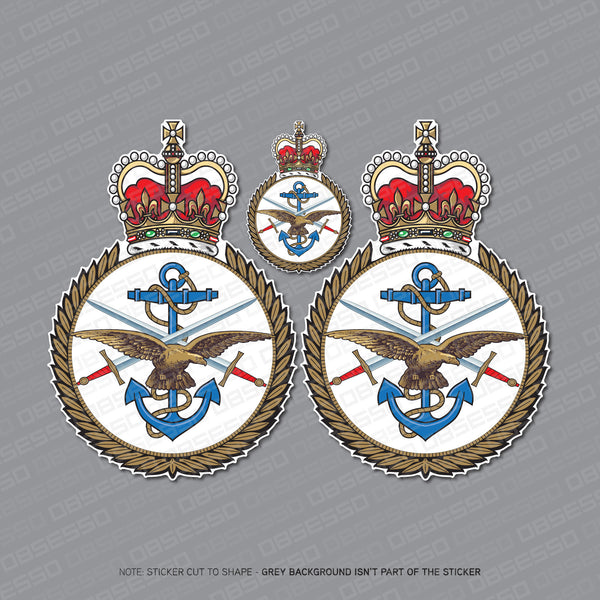 3 x HM Armed Forces Stickers - Stickers - OBSESSO - www.obsesso.co.uk