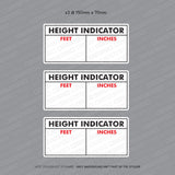 3 x HGV/LGV Height Indicator Stickers - Stickers - OBSESSO - www.obsesso.co.uk