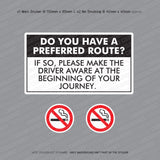 Do You Have A Preferred Route Taxi Sticker - Sticker - OBSESSO - www.obsesso.co.uk