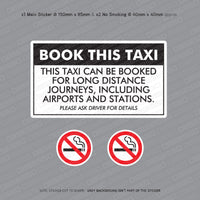 Book This Taxi - Long Journey - Taxi Sticker - Sticker - OBSESSO - www.obsesso.co.uk