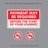 Payment Before Journey - Taxi Sticker - Sticker - OBSESSO - www.obsesso.co.uk