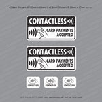 Contactless Debit/Credit Cards Accepted - Taxi Sticker - Sticker - OBSESSO - www.obsesso.co.uk