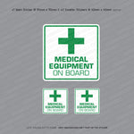 Medical Equipment On Board - Taxi Sticker - Sticker - OBSESSO - www.obsesso.co.uk