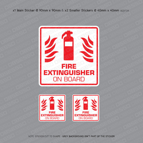 Fire Extinguisher On Board - Taxi Sticker - Sticker - OBSESSO - www.obsesso.co.uk